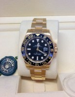 Rolex replica GMT Master II 116718LN Gold